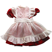 Red Doll Dress with White Apron