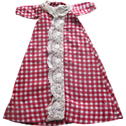 Old Doll Dress - Red Checked