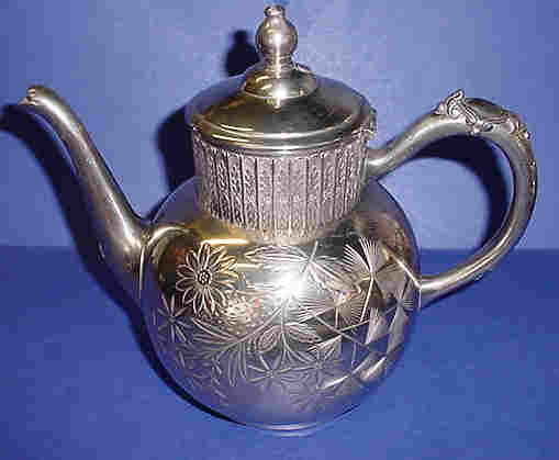 Vintage Ornate Silver-Plate Coffee Pot