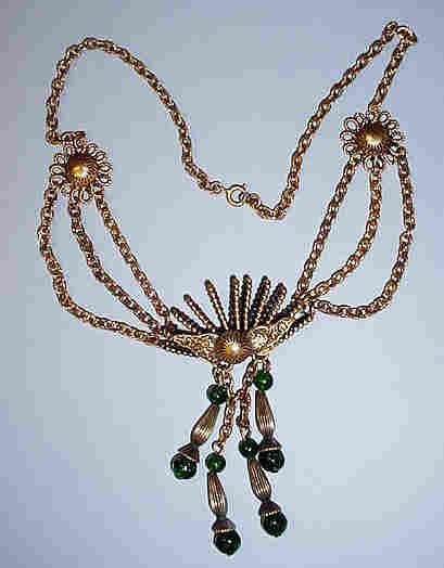 Gorgeous Vintage  Renaissance-Inspired Festoon Necklace