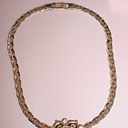 VINTAGE Pendent Choker Necklace Rhinestones