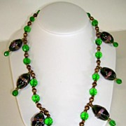 VINTAGE  Gypsy Necklace!! Venetian Beads,  Renaissance  Power of the Mystic!!