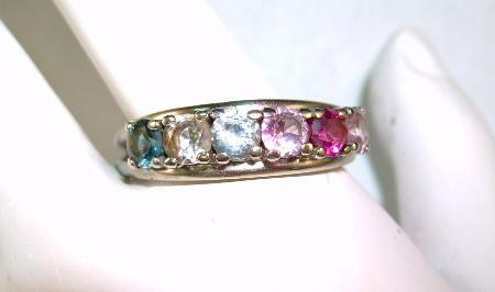 MOTHER'S Ring from the 70's 14K Six Different Jewels
