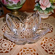 VINTAGE Swedish Orrefors Large Heavy Bowl Wonderful Crystal!
