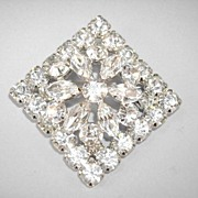 VINTAGE Unsigned Diamond-Shape Brillant Brooch