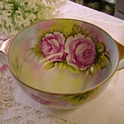 VINTAGE Deep Bowl Victorian Roses Early Noritake