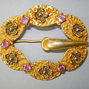 ANTIQUE Sash Pin Brooch Victorian