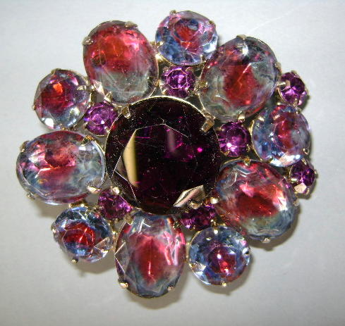 VINTAGE LARGE Purple Brooch  When I grow old I shall wear purple!