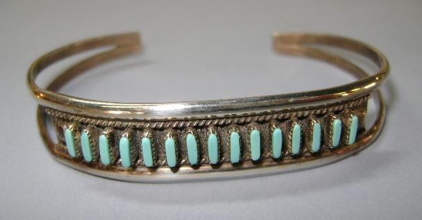 VINTAGE Sterling Zuni Needlepoint Bracelet Classic