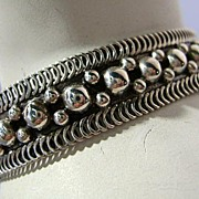 VINTAGE Mexican Silver Bracelet Child's Size  Beautiful Silver