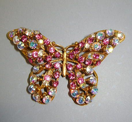 VINTAGE Florenza Bright Beautiful Butterfly Brooch