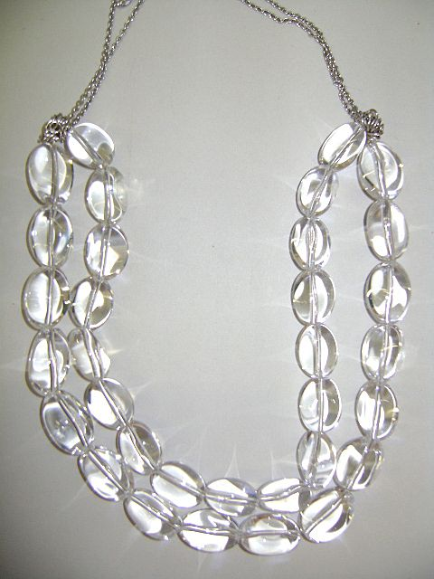 DESIGNER DEAN HARRIS Sterling and Natural Quartz Beautiful Necklace