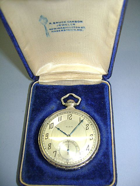 VINTAGE Elgin Watch 14K White Gold Filled 1921 15 Jewels