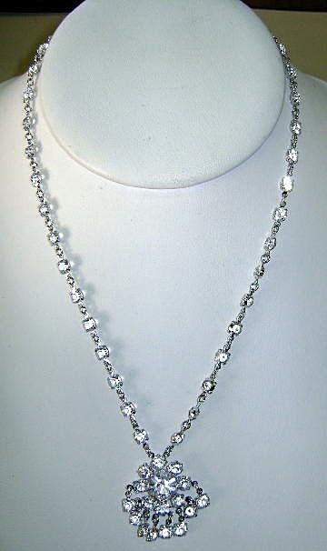 VINTAGE Clear Crystal Necklace Sweet Sixteen Prom