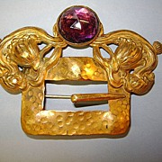 VINTAGE Sash Brooch Very Old Very Nice