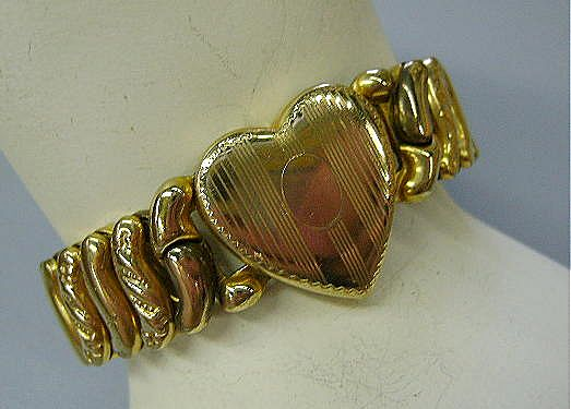 VINTAGE 40'S Sweetheart Expansion Bracelet  Pretty Heart