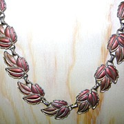 Vintage Bronze colored Leaves of Fall Necklace