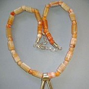 Jay King DTR Peach Color Gem Stone Necklace with Star Peach Quartz