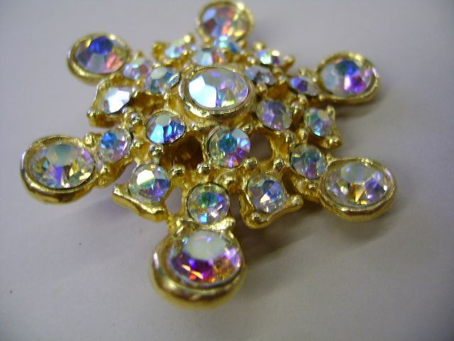 VINTAGE Sunlight Rhinestone Brooch  Lovely to look at!