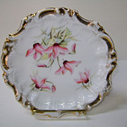 VINTAGE Six Inch Dresden Germany  Flowered Plate