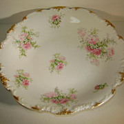 VINTAGE Flat Low 9 1/2 Inch Bowl  J Pouyet Limoges