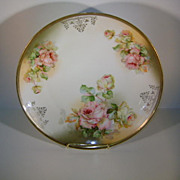 VINTAGE 9 1/2 Plate of Austria Garlsado Beautiful Open Roses