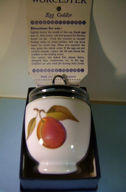 VINTAGE Royal Worcester Porcelain Egg Coddler Made in England