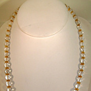 VINTAGE 40's Glass Beaded Necklace Professionally restrung and new clasp