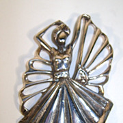 VINTAGE Sterling Dancing Girl Unmarked