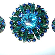 VINTAGE Austrian Brooch and Earrings