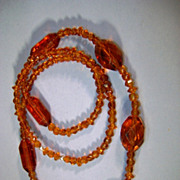 VINTAGE Czech Glass Beads Professional Restrung Golden Honey