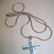 VINTAGE Zuni Channel Work Cross