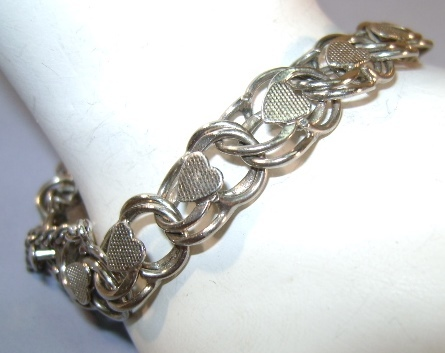 VINTAGE  Basic Sterling Bracelets for Charms