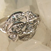 VINTAGE Pinkie 14K Diamond Ring Size 5