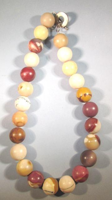 VINTAGE Mystery Stone Necklace  Lovely Colors  17 Inches