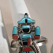 VINTAGE Zuni Knife Dancer Ring  Size 13