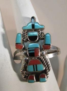 VINTAGE Zuni Knife Dancer Ring  Size 13
