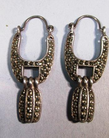 VINTAGE Beautiful Sterling Marcsite Earrings