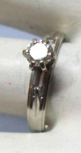 VINTAGE 14K White Gold Diamond Ring  Size 5 1/2