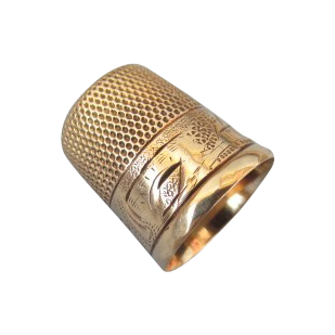 VINTAGE Gold Thimble  10K Marked Size  8