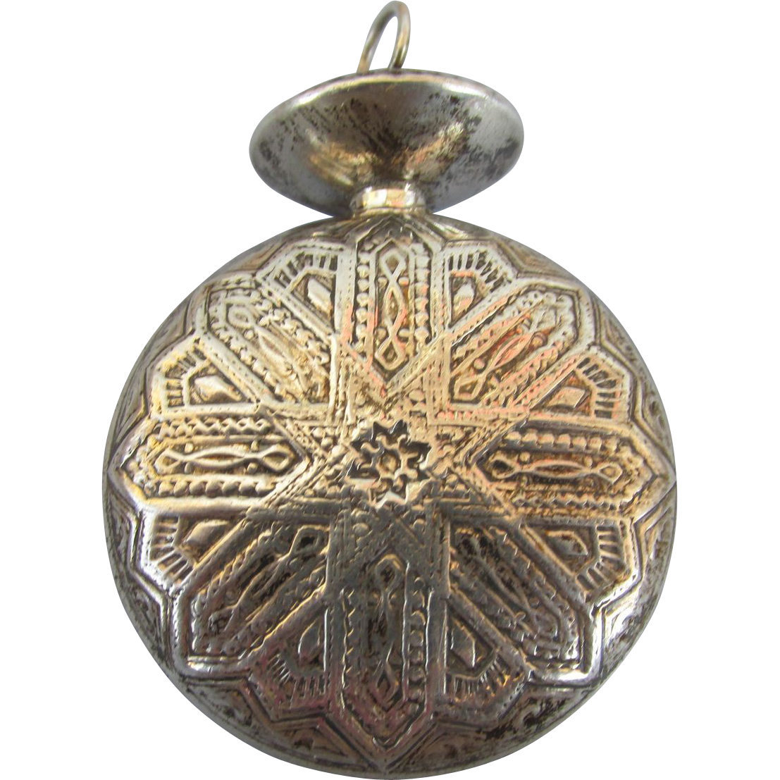 VINTAGE Sterling Perfume Pendant  Marked on Doppler