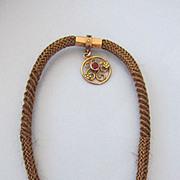 VICTORIAN  Hair Weaving  Spiraling Tube Watch Chain
