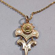VINTAGE  Victorian Gold Filled Pendant