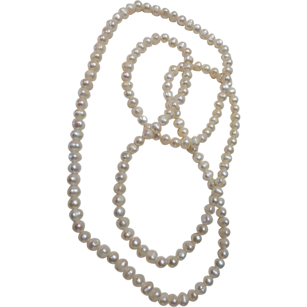 VINTAGE  Pototo Shaped Fresh-water Pearls Endless String 36 Inches