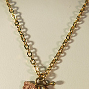 VINTAGE Black Hill's Gold Necklace and  10K Pendant