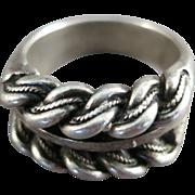 VINTAGE Massive Mans Sterling Ring  Size 11
