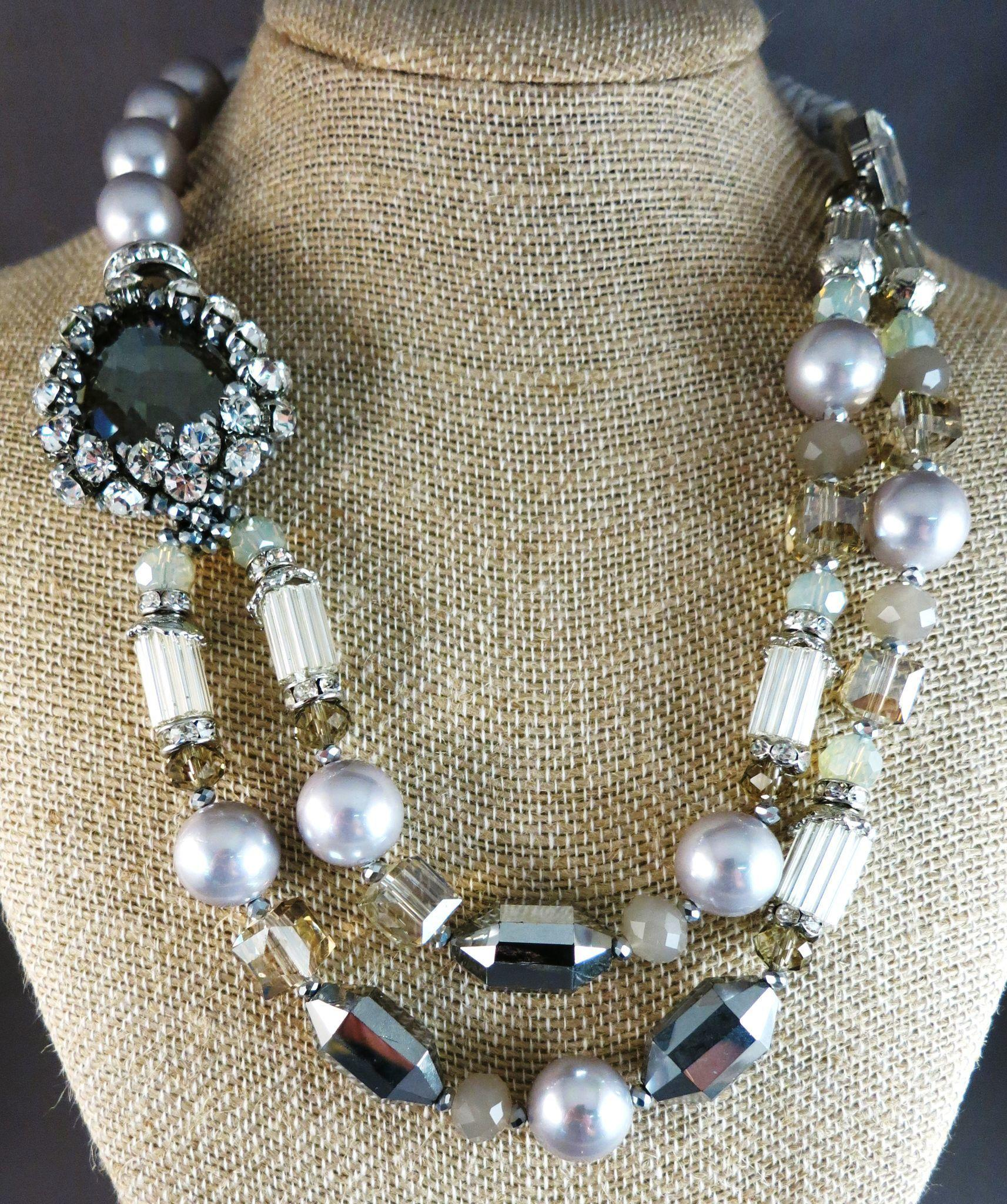 OVER-THE-TOP Runway Necklace Stunning Circa 1980