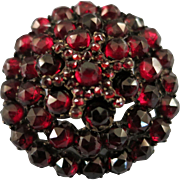VINTAGE Bohemian Tiered Garnet Brooch Very Old
