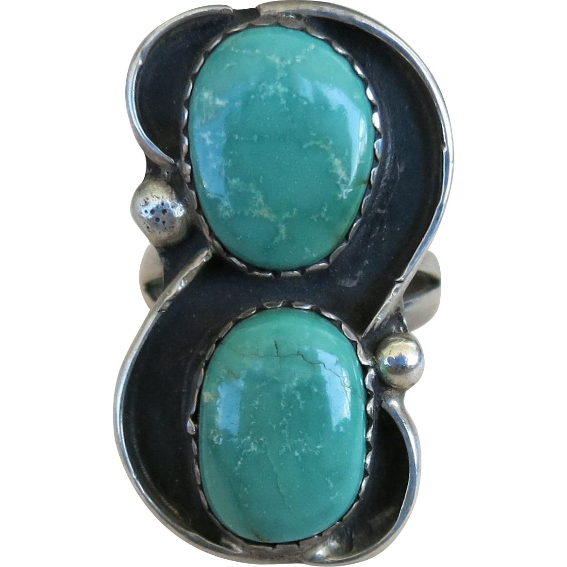 Dark Green Turquoise Ring Base