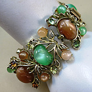 VINTAGE Coro Fashion Bracelet from the 60's Wide and Lovely